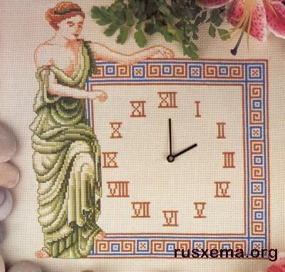 Схемы вышивки крестом. Часы.