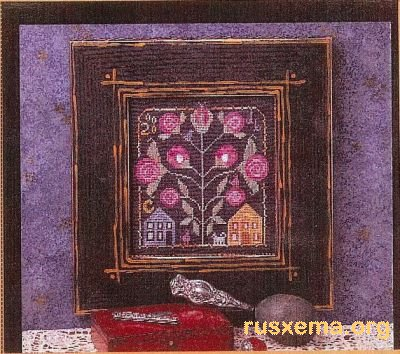 Схемы вышивок в классическом стиле (сэмплеры, маячки для ножниц и т.д.), выполненные в духе старинных традиций.